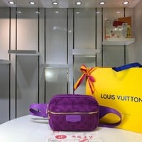Kuyou Lv Louis Vuitton Gb29714 M44624 Monogram Denim Bags All Collections Outdoor Purple Bumbag 21.0 X 17.0 X 5.0 Cm