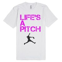 Life's A Pitch Shirt-Unisex White T-Shirt