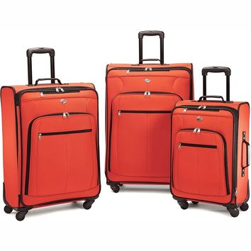 American Tourister Pop Plus 3 Piece Nested Spinner Luggage Set (Orange) - 64590-1641