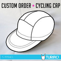 Custom Order ~ Cycling Cap ~ 5 Panel Hat ~ You design it, we'll sew it!