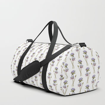 Lotus flowers Duffle Bag by savousepate