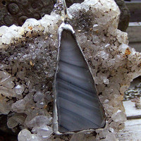 Grey Glass Fragment Necklace