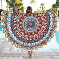 2016 New Round Tassel Mandala Indian Hippie Boho Tapestry Beach Picnic Throw Towel Yogo Mat Blanket Home Decor