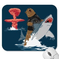 The Great Escape - bear shark cavalry Mousepads from Zazzle.com