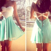 Homecoming Dress,  Short Cute Lace Homecoming Dress, Summer Dress