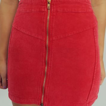 Sassy Vibes Skirt: Red