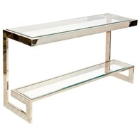 Worlds Away Noho Nickel Low Console Table