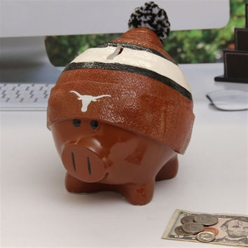 Texas Longhorns Piggy Bank - Large With Hat