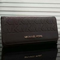 MICHAEL KORS Women Leather Fashion Print Wallet Purse G-LLBPFSH