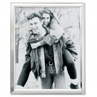 """Lawrence Frames 8"""" x 10"""" Picture Frame in Brushed Satin Silver Plated - 750180 - Decor"""