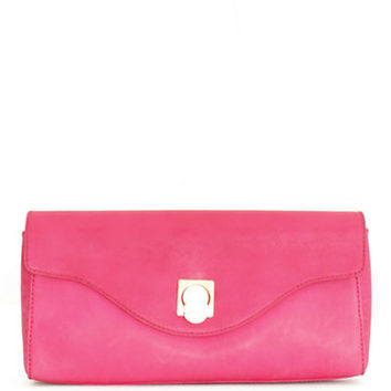 Isaac Mizrahi New York Sandra Leather Clutch