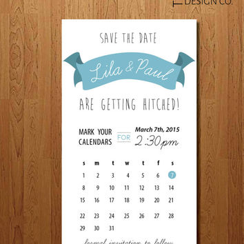 "Printable Save the Date - Digital Save the Date - Magnet - Personalized Save the Date - ""The Lila"""