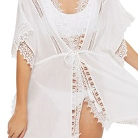 Topshop V-Neck Cover-Up Caftan | Nordstrom