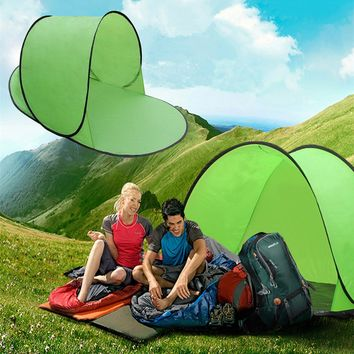 Foldable Pop Up Beach Shelter Camping Sun Shade Cover Tent Fishing Hiking + Bag