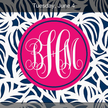 iPhone Monogram Wallpaper Lilly Pulitzer Inspired Need My Shades