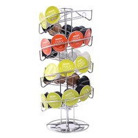 Goplus Spiral 30 Capsule Coffee Pod Holder Tower Rotate Stand Storage Rack New