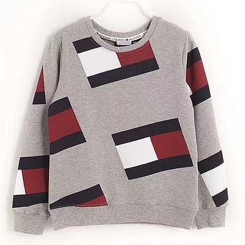 '' Tommy Jeans '' 90s Crew Sweatshirt Flag Print M8 Retro sweater