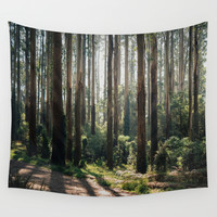 AUTUMN FOREST Wall Tapestry by My Dear Bambi