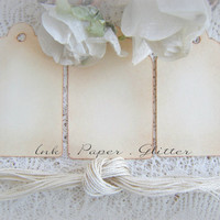 Wedding Favor DIY Vintage Look  - Wish Tree - Place Cards - Escort Cards - Graduation - Party Favor Tags - Set of 200 cream Vintage Inspired