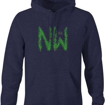 Twig Hoodie Navy Heather