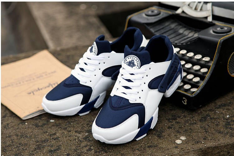 Custom Blue   White Huarache Run from BlackRome  88fac49c1