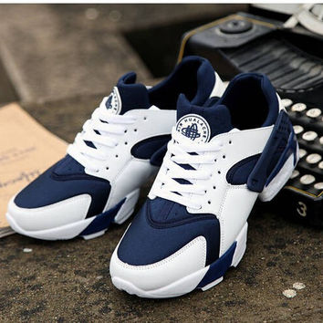 Custom Blue & White Huarache Run