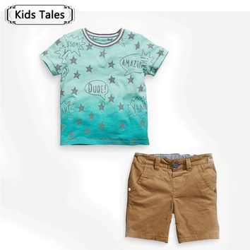 ST239  2018 summer boys clothes boy clothing set star template T-shirt + pants 2 pcs /set toddler boys clothes kids clothes set