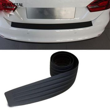 PEAPGB2 Car Styling Rubber Rear Guard Bumper Protect Trim Cover Pad Scuff Sill Protector Scuff For Skoda Octavia A7 Fabia Superb B6 Yeti
