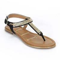 Embellished Thong Sandals - Women