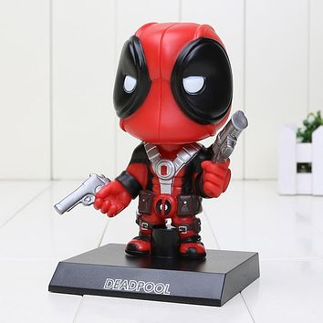 Hasbro Marvel 13.5cm Super Hero Deadpool Wobbler BobbleHead Model PVC Action Figure Collectible Toy