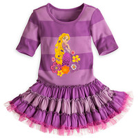 Disney Rapunzel Purple Striped Knit Dress for Girls | Disney Store