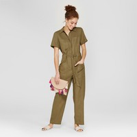 Women's Boiler Suit Coveralls - A New Day™ Olive