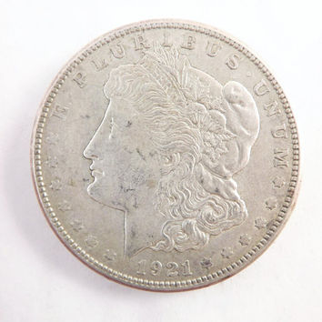 1921S Morgan Silver Dollar Collectible Coin, 1921 S One Dollar Coin Denver San Francisco, Vintage Coin