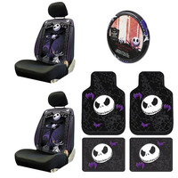 Nightmare Before Christmas Jack Skellington 9 PcSeat Cover Combo.