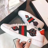 GUCCI Woman Men Fashion Arrow Sneakers Sport Shoes