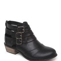 Black Poppy Cutout Boots - Womens Boots - Black -