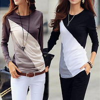 2016 Fashion Autumn Women Long Sleeve Tunic Blouses Shirts [8805134727]