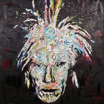 Andy Warhol Art by Matt Pecson Original Oil Painting 36x36 CMYK Pop Art Painting Canvas Painting Large Wall Art Urban Art