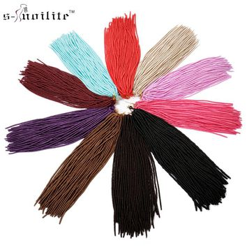 Snoilite 3 Pack/lot 330g 24 inches 20Strands /pack Dreadlocks Crochet Braids Dread Hairstyle Synthetic Braiding Hair Extensions
