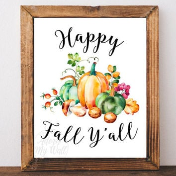 Happy fall y'all, fall decor, thanksgiving, fall sign, happy fall, autumn decor, Happy fall yall, autumn sign, pumpkin, thanksgiving decor