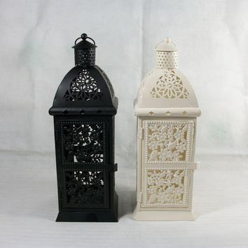 Mediterranean Iron Art Candle Holders Decoration Romantic Wedding Supplies Hanging Candelabra Home Crafts Moroccan Colors
