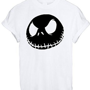 Jack Jumbo Face Head Nightmare Before Christmas White Grey BLACK - White