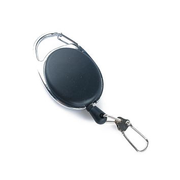 1 Pcs Fly Fishing Tool Zinger Retractor Keychain Badge Holder Retractable Reel Recoil Carabiners Clip Fishing Accessories