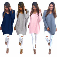 Elegant Knitted Winter Pullover Sweater
