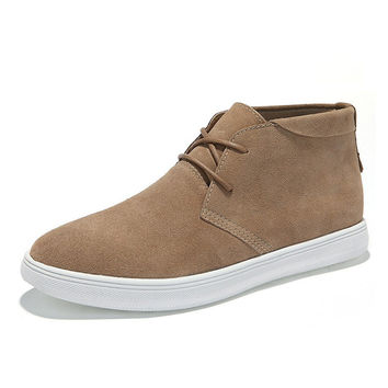 Luxury Cats High-top England Style Leather Men Casual Sneakers = 6450505091