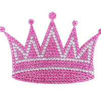 Queen Princess Royal Crown Pink Gem Crystals Car Truck SUV Home Office Window Decal Sticker Cling Bling