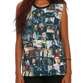 Supernatural The Road So Far Sublimation Girls Muscle Top