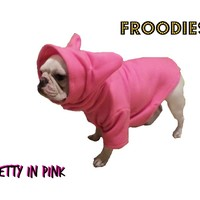 French Bulldog Boston Terrier Froodies Hoodies USA Pink Fleece Sweatshirt Jacket