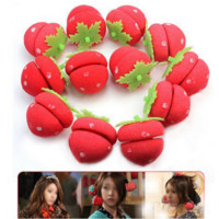 Strawberry Balls Hair Care Soft Rollers