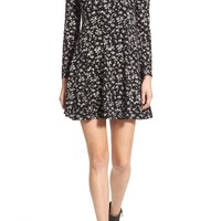 Lush 'Lauren' Long Sleeve Shift Dress | Nordstrom